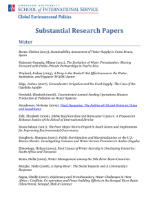 Substantial Research Papers Water