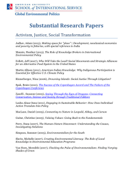 Substantial Research Papers Activism, Justice, Social Transformation