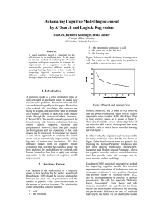 Automating Cognitive Model Improvement by A*Search and Logistic Regression