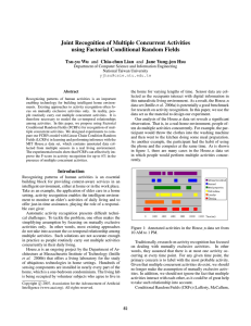 Joint Recognition of Multiple Concurrent Activities using Factorial Conditional Random Fields