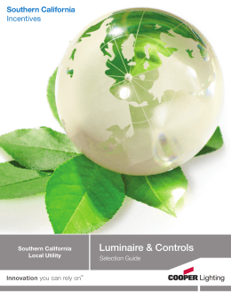 Luminaire & Controls Southern California Incentives Selection  Guide