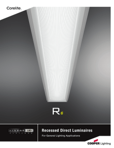 Recessed Direct Luminaires For General Lighting Applications