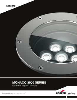 MONACO 3000 SERIES Adjustable Ingrade Luminaire