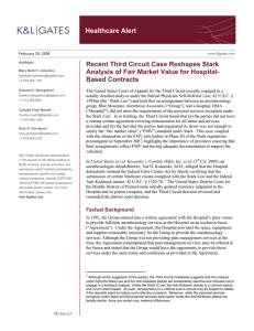 Healthcare Alert Recent Third Circuit Case Reshapes Stark Based Contracts