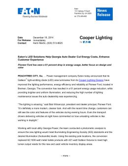 Eatonu0027s LED Solutions Help Georgia Auto Dealer Cut Energy Costs,...  Customer Experience