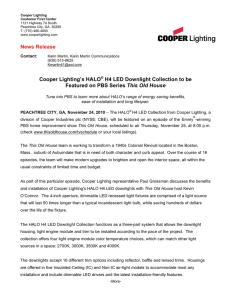 Cooper Lighting's HALO H4 LED Downlight Collection to be This Old House
