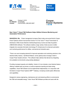 New Yukon™ Visual T&D Software Helps Utilities Enhance Monitoring and