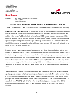 News Release Cooper Lighting Expands its LED Outdoor Area/Site/Roadway Offering  sc 1 st  studylib.net & Navion LED - LED Innovations azcodes.com