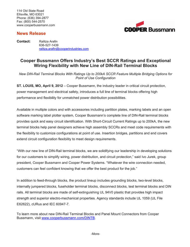 News Release Contact:
