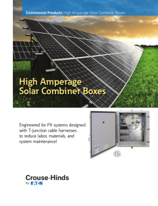 High Amperage Solar Combiner Boxes