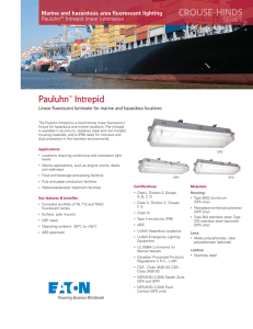 Pauluhn™ Intrepid Marine and hazardous area fluorescent lighting Pauluhn Intrepid linear luminaires