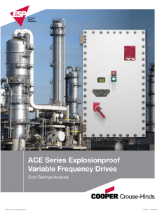 ACE Series Explosionproof Variable Frequency Drives Cost Savings Analysis