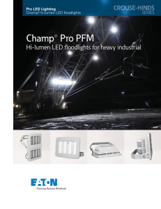 Champ® Pro PFM Hi-lumen LED fl oodlights for heavy industrial Champ
