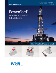 PowerGard®  universal receptacles & back boxes