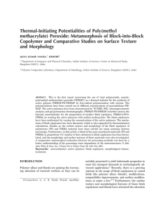 Thermal-Initiating Potentialities of Poly(methyl methacrylate) Peroxide: Metamorphosis of Block-into-Block