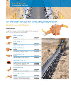 Safe and reliable conveyor belt control, always ready for action