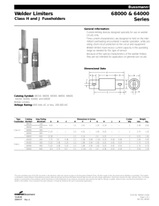 Welder Limiters 68000 & 64000 Series Class H and J Fuseholders