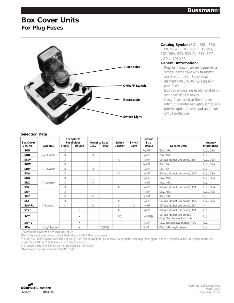Fuse Buss Ssu Box Schematic Wiring Library