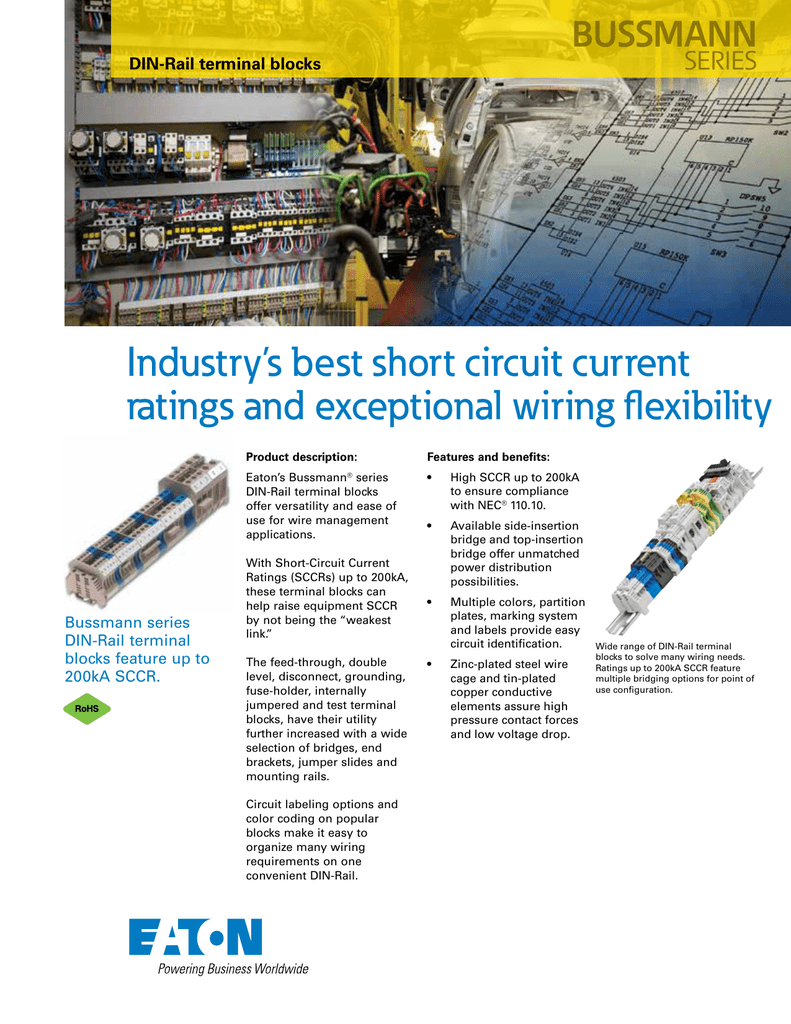 Industry's best short circuit current ratings and