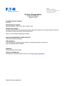 Product Change Notice PCN#: EE-PCN16016 March 22, 2016