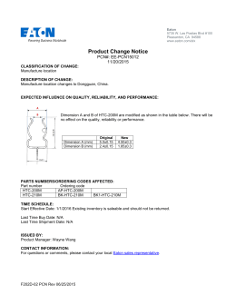 Product Change Notice PCN#: EE-PCN15012 11/20/2015