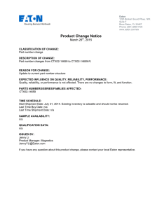 Product Change Notice March 26 , 2015