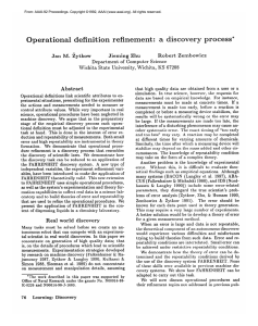 Operational  definition  refinement:  a Jieming  Zhu