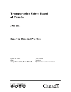 Transportation Safety Board of Canada 2010-2011