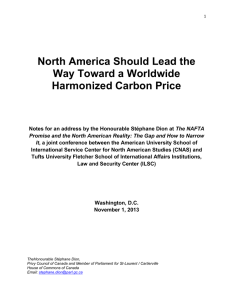 North America Should Lead the Way Toward a Worldwide Harmonized Carbon Price