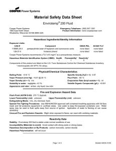 Paratherm LR Heat Transfer Fluid Material Safety Data Sheet