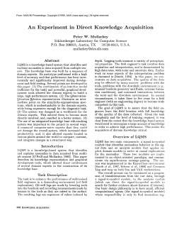 An  Experiment in  Direct  Knowledge  Acquisition