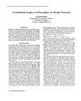 Conditional  Logics  of  Normality  as ... lA4