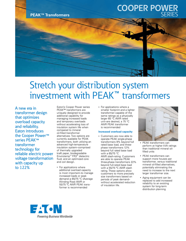 Stretch your distribution system investment with PEAK