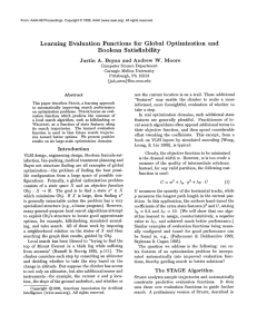 Learning  Evaluation  Functions  for  Global ... and Boolean  Satisfiability