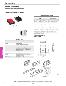 Accessories Bolt-On Accessories Component Mounting Device Illustration Sheet and Catalog Number