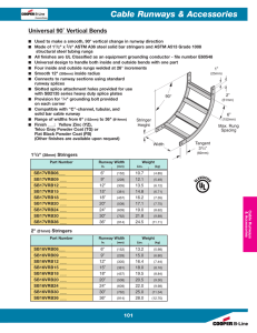 Cable Runways & Accessories ˚ Vertical Bends Universal 90