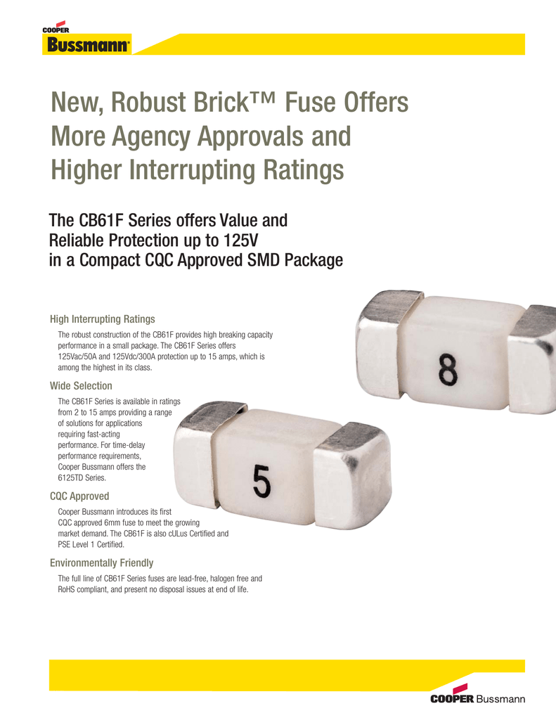 New, Robust Brick™ Fuse Offers More Agency Approvals and