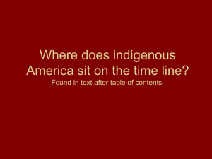 Where does indigenous America sit on the time line?