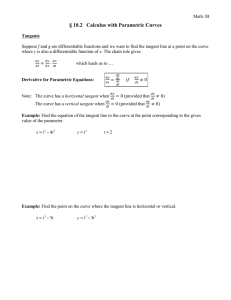 § 10.2   Calculus with Parametric Curves