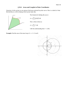 § 10.4   Areas and Lengths in Polar Coordinates