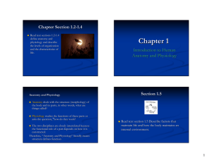 Chapter 1 Chapter Section 1.2 - 1.4