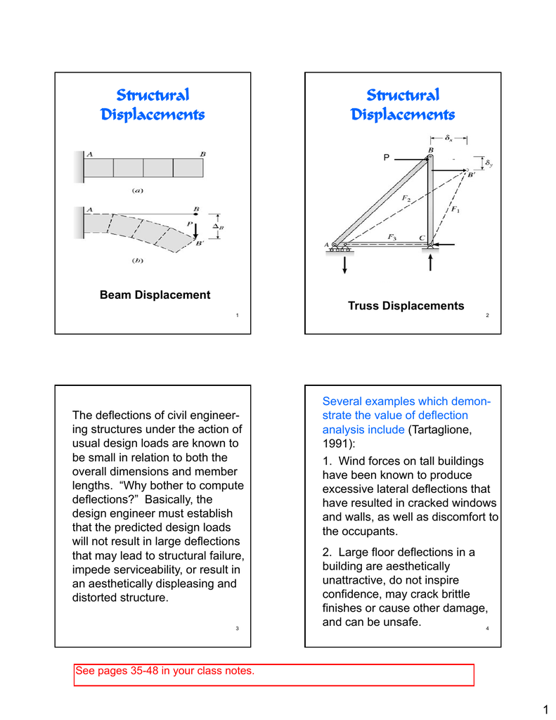Structural Displacements