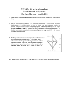 CE 382 - Structural Analysis Team Homework Assignment #5