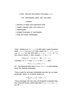 6.262:  Discrete  Stochastic  Processes Outline:
