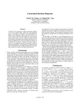 Constrained Decision Diagrams Kenil C.K. Cheng