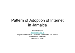 Pattern of Adoption of Internet in Jamaica