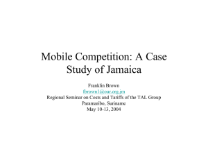 Mobile Competition: A Case Study of Jamaica