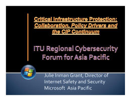 Julie Inman Grant, Director of  Internet Safety and Security Microsoft  Asia Pacific