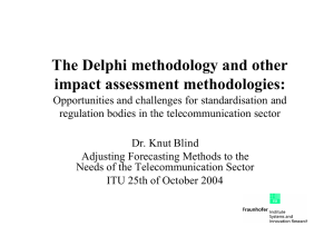 The Delphi methodology and other impact assessment methodologies: