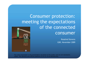 Consumer protection: meeting the expectations of the connected consumer